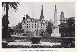 RP; BUENOS AIRES, Plaza y Piramide de Mayo, Argentina, 10-20s