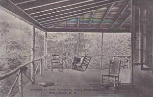 New Hampshire New London Veranda of Main Building Camp Weetamoo Albertype