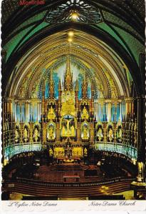 Canada Montreal Notre Dame Church