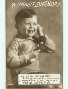 Old rppc KIDS - CHILDREN SCENE Great Postcard AB1886