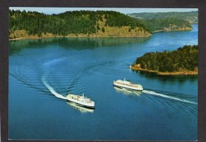 BC Tsawwassen Vancouver Ferry Boats British Columbia Canada Carte Postale