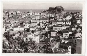 Greece; View Of The City, Corfu RP PPC, c 1950's, Bilingual Inscription