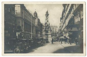 Vienna Street Scene C 1920's W Cars to Foreground RP PPC Unposted, Pestsaule
