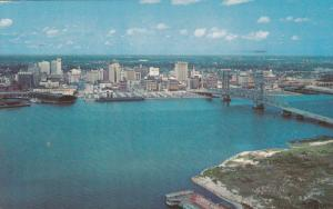 Skyline, Main Street Bridge, St. Johns River, JACKSONVILLE, Florida, 40-60's