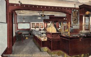 Ottumwa Iowa~Claude Myers Confectionery & Ice Cream House~Cigar Department~1912
