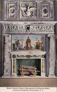 Mosaic Mantel History Representatives Reading Room Library Of Congerss Washin...