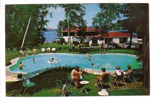 Lac Ouimet Resort, People Swimming, Outdoor Pool, St Jovite, Quebec, Photo W ...