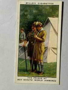CIGARETTE CARD - WILLS REIGN GEORGE V #34 PRINCE AT BOY SCOUTS WORLD   (UU312)