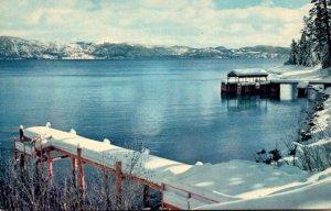 California Lake Tahoe Panoramic View At Winter