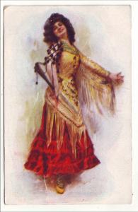 P503 JLs 1909 italian dancer pretty old dress