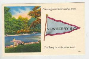 Greetings & Best Wishes From Newberry, South Carolina, 1930-40s