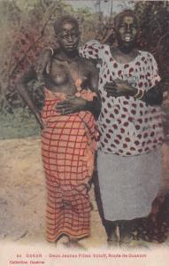Topless girl ,Senegal, DAKAR - Deux Jeunes Filles Voloff, Route de Ouakam, 00-10
