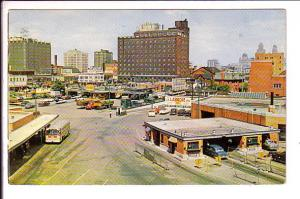Tunnel Plaza, Windsor Ontario, Entrance to Detroit, Bus, Downtown