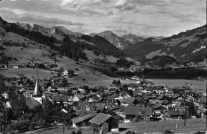 Switzerland Zwelslmmen M. O. B. Stockhornkette Village Church Postcard
