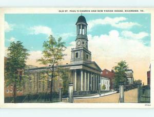 Unused W-Border CHURCH SCENE Richmond Virginia VA A8362