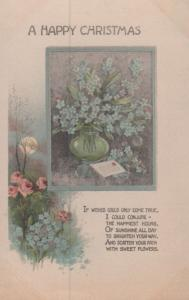 Conjuring A Magic Christmas Scatter Path With Flowers Antique Poetry Postcard