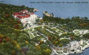 FL - Miami, Aerial View, Vizcaya-Dade County Art Museum