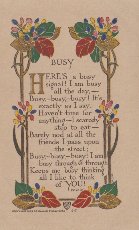 Philosophy ; BUSY , 1910