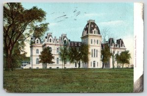 Richmond Virginia~Richmond College~Small Trees in Front~1909 Postcard