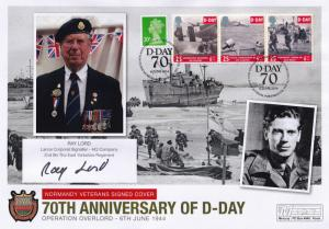 Ray Lord Sword Beach East Yorkshire Regiment D-Day Hand Signed FDC