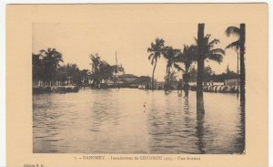 Benin; Dahomey, No 7,1925 Cotonou Floods, A Street View PPC, By ER, Unused