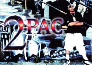 Postcard American Rapper 2-Pac 2Pac Tupac Shakur by Amaru-Awa Merchandising #1