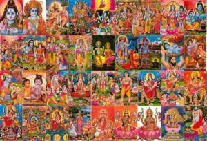 Large Lot 36 Postcards of Hindu Gods Rama Krishna Hanuman Ganesh Shiva Ma Durga