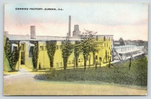 Eureka Illinois~Canning Factory~Drive Downhill Back~Worker at Loading Dock~1912