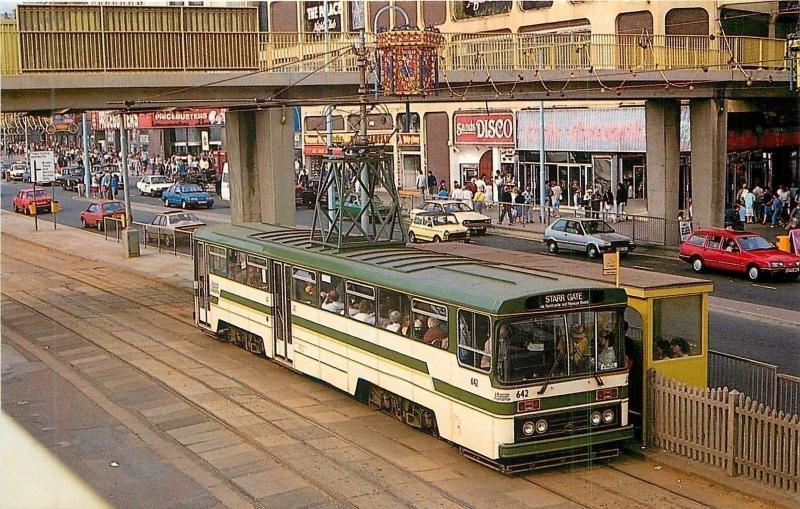 Blackpool UK~Transport Centenary Class Tram No 642 to Starr Gate~Disco~1970s