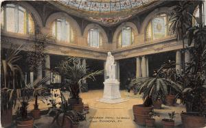 C64/ Richmond Virginia Va Postcard 1917 Jefferson Hotel Interior Marble Court