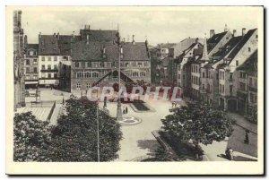 Postcard Old Mulhausen Adolf Hitler Platz