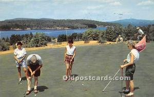 Old Vintage Golf Postcard Post Card Golfing at Tupper Lake Adirondack State P...