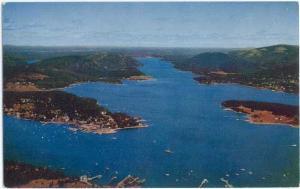 Manset & Somes Sound,  Mount Desert Isle, Maine, ME, Pre-zip Code Chrome