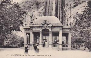 Marseille (Bouches-du-Rhône), France, 1900-1910s ; La Gare des Ascenseurs