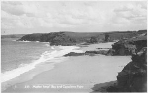 Vintage Real Photo Cornwall Postcard, Mother Iveys' Bay and Cataclews Point GR9