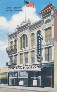 Oddfellows Hall - Union Lodge No. 1 - Denver CO, Colorado - Linen