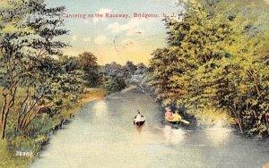Canoeing on the Raceway in Bridgeton, New Jersey