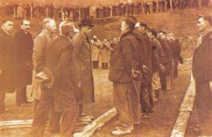 Nostalgia Postcard King Edward VIII at Abertillery, Wales 1936 Repro Card #N14