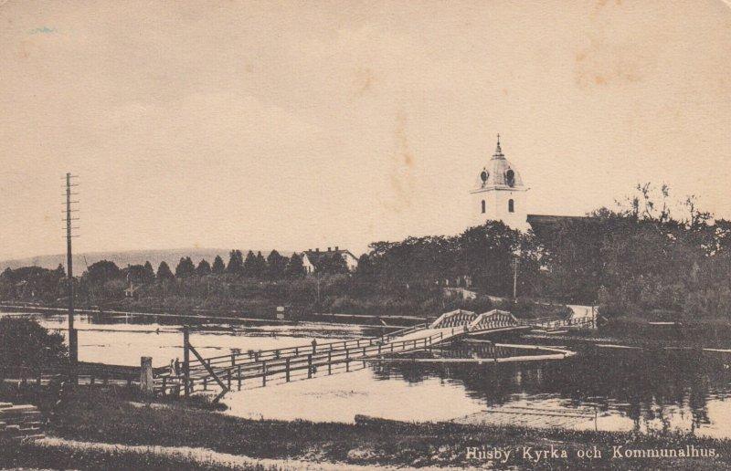 HUSBY , Sweden , 1900-10s ; Kyrka och Kommunalhus