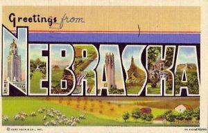 VARIOUS VIEWS GREETINGS FROM NEBRASKA 1945