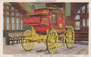 New Hampshire Concord Original Concord Coach Built 1865 By Abbott Downing Com...