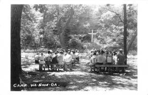 Camp Wa- Shun Ga Geary Kansas Real Photo Antique Postcard L308