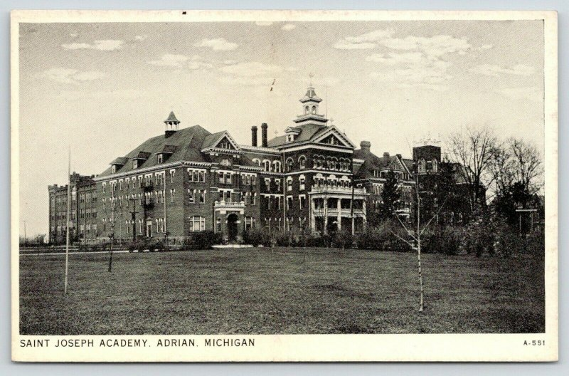 Adrian Michigan~St Joseph Academy~Catholic Girls School~Closed 2012~1930s B&W PC