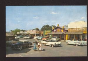 SCOTTSDALE ARIZONA 1957 CHEVY OLD CARS DOWNTOWN STREET SCENE OLD POSTCARD
