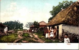 Cuba Havana Typical Cuban Huts 1908
