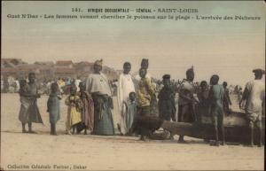 Senegal Africa Saint Louis Natives Guet N'Dar c1910 Postcard