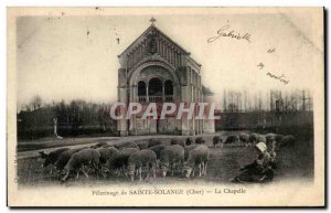 Old Postcard Pilgrimage of Sainte-Solange La Chapelle Sheep Folklore