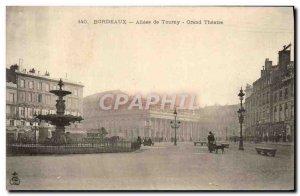 Postcard Old Allees de Tourny Bordeaux Grand Theater