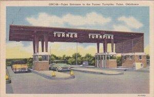 Tulsa Entrance To The Turner Turnpike Tulsa Oklahoma 1956