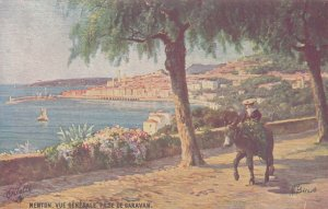 MENTON , France , 00-10s ; Vue Generale Prise De Garavan ; TUCK